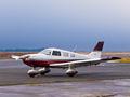 Private Piper PA-28 Archer G-CIAM at Lugo - Rozas airport