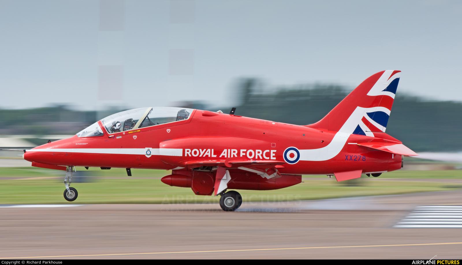 "Royal Air Force ""Red Arrows"" XX278 aircraft at Fairford"