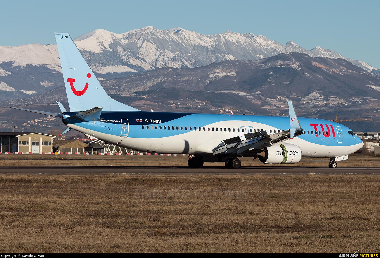 TUI Airways G-TAWN aircraft at Verona - Villafranca