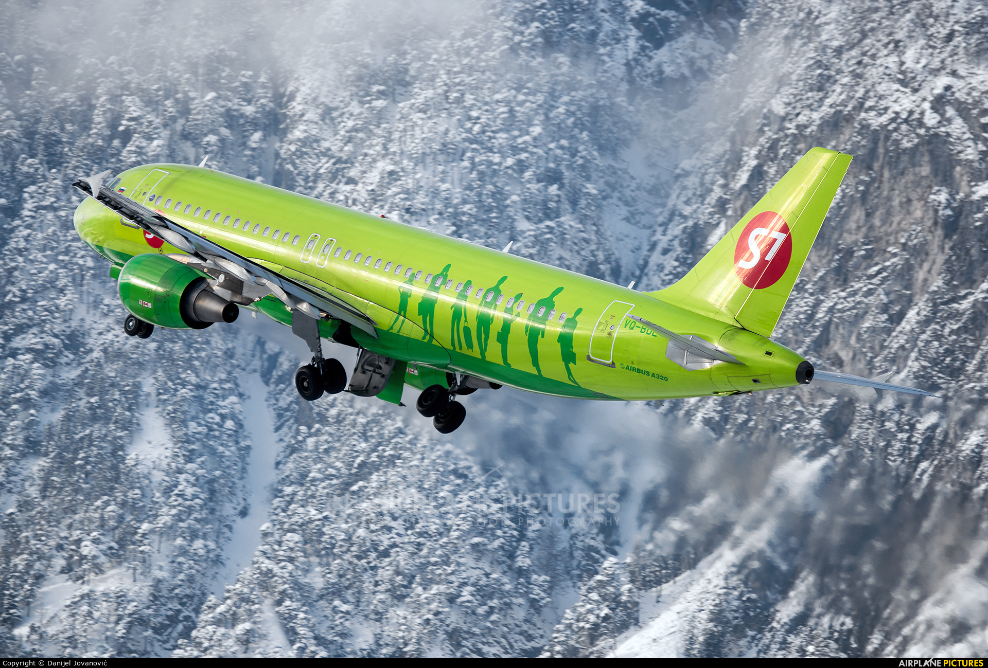 S7 Airlines VQ-BDE aircraft at Innsbruck