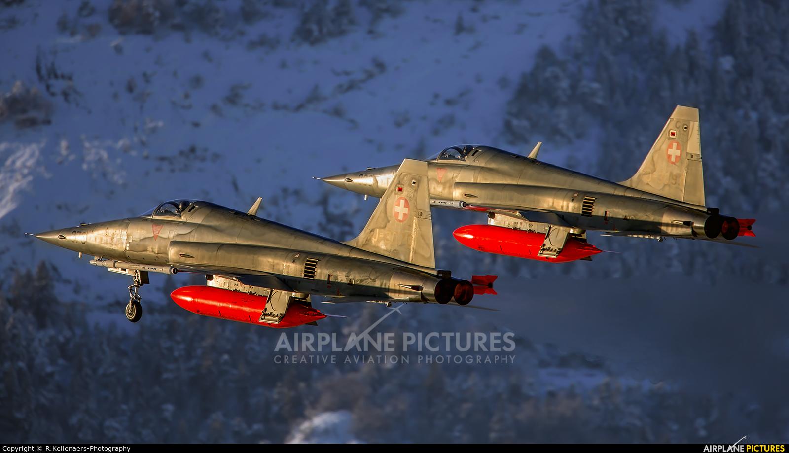Switzerland - Air Force J-3070 aircraft at Sion