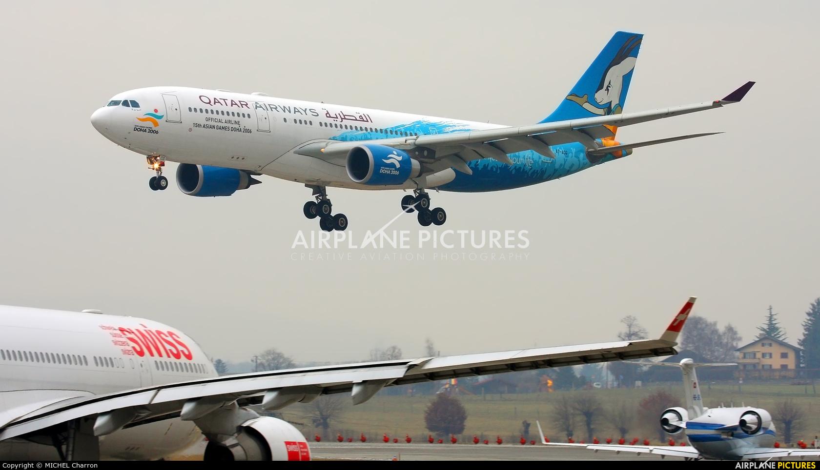 Qatar Airways A7-ACG aircraft at Geneva Intl