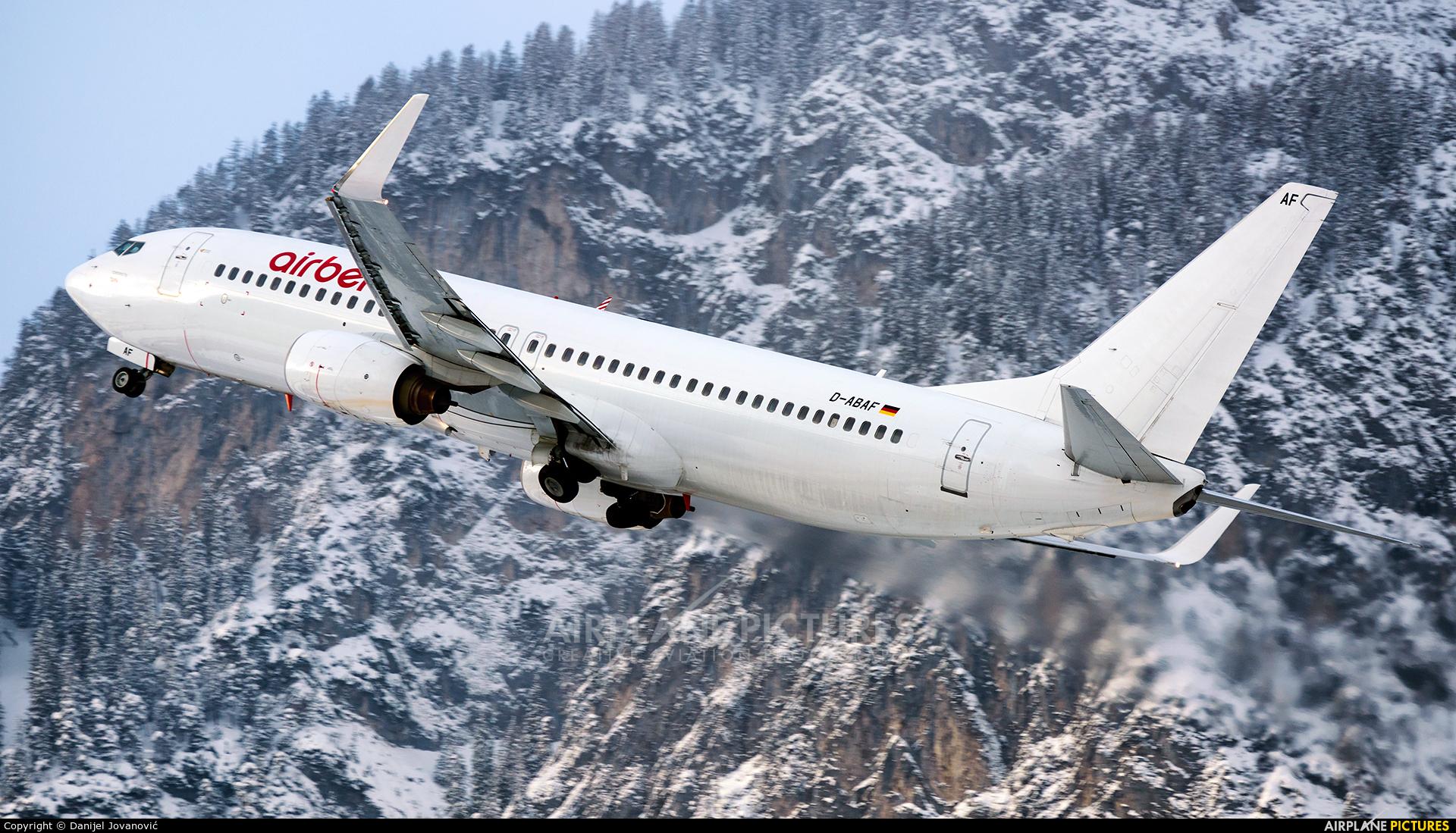Air Berlin D-ABAF aircraft at Innsbruck