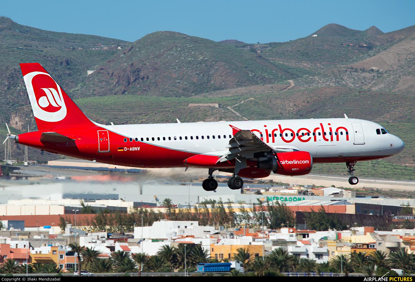 Air Berlin D-ABNV aircraft at Las Palmas de Gran Canaria
