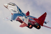 "14 - Russia - Air Force ""Strizhi"" Mikoyan-Gurevich MiG-29UB aircraft"