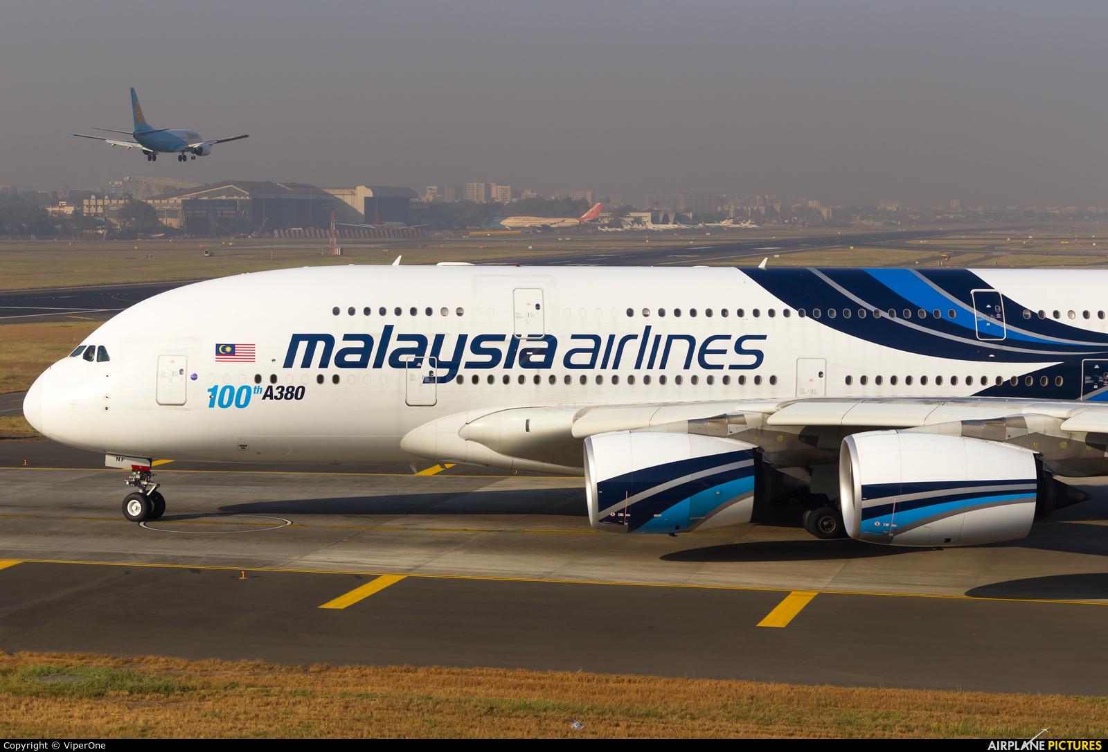 Malaysia Airlines 9M-MNF aircraft at Mumbai - Chhatrapati Shivaji Intl