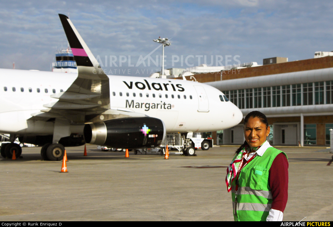 Volaris - aircraft at Cancun Intl