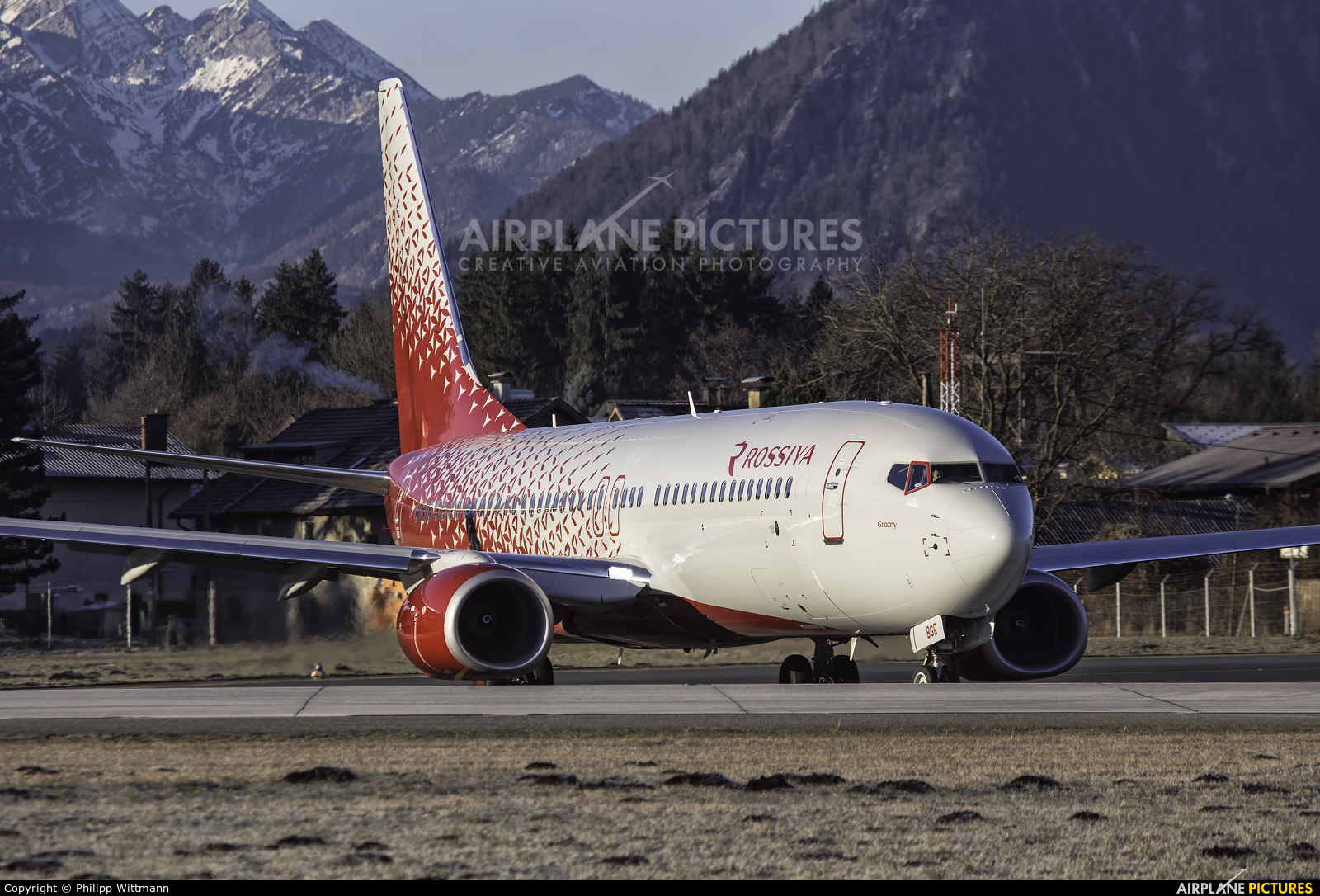 Rossiya VP-BGR aircraft at Salzburg