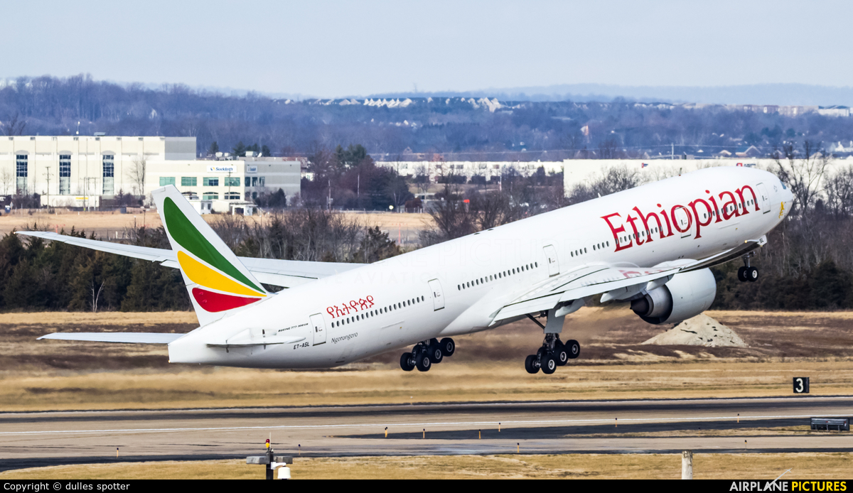 Ethiopian Airlines ET-ASL aircraft at Washington - Dulles Intl