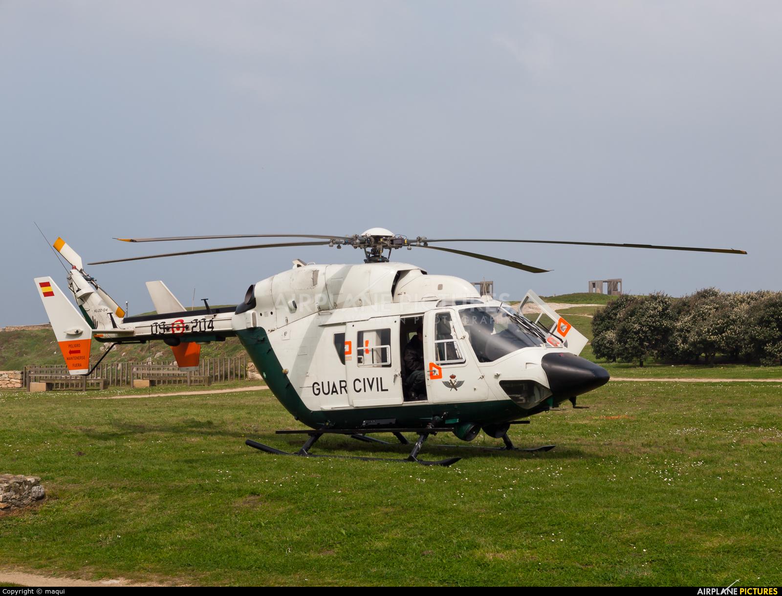 Spain - Guardia Civil HU.22-04 aircraft at La Coruña - Torre de Hercules
