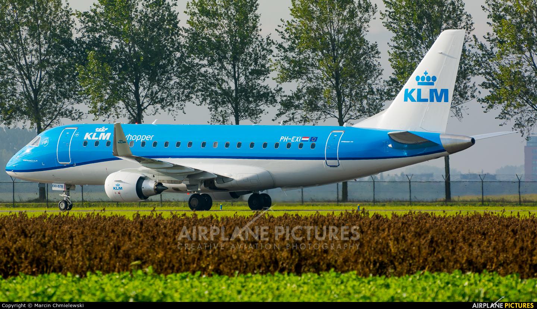 KLM Cityhopper PH-EXI aircraft at Amsterdam - Schiphol