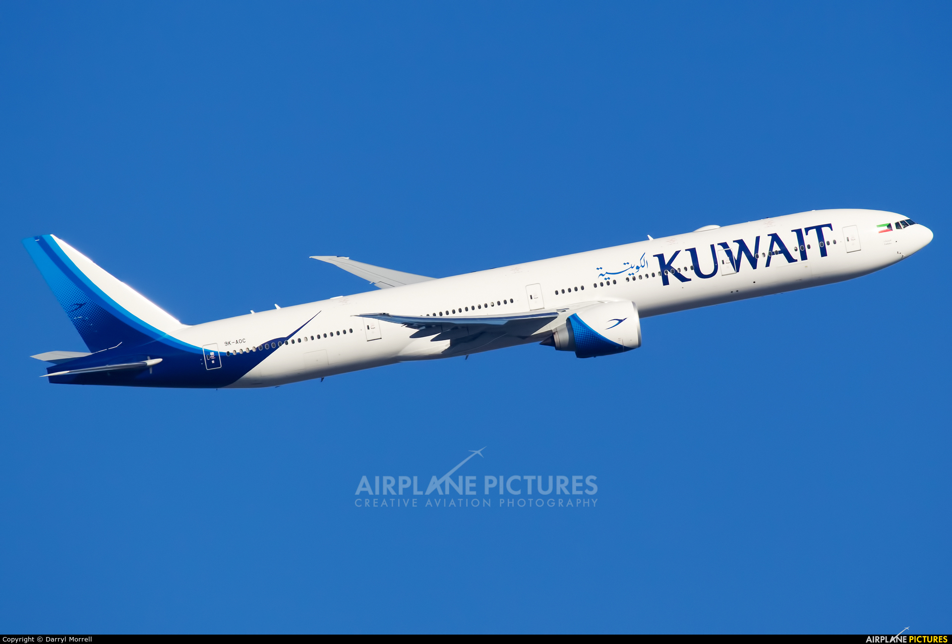 9K-AOC - Kuwait Airways Boeing 777-300ER at London ...