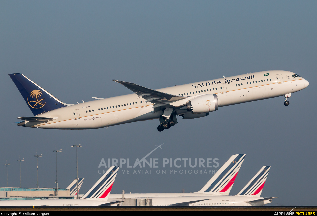 Saudi Arabian Airlines HZ-ARC aircraft at Paris - Charles de Gaulle