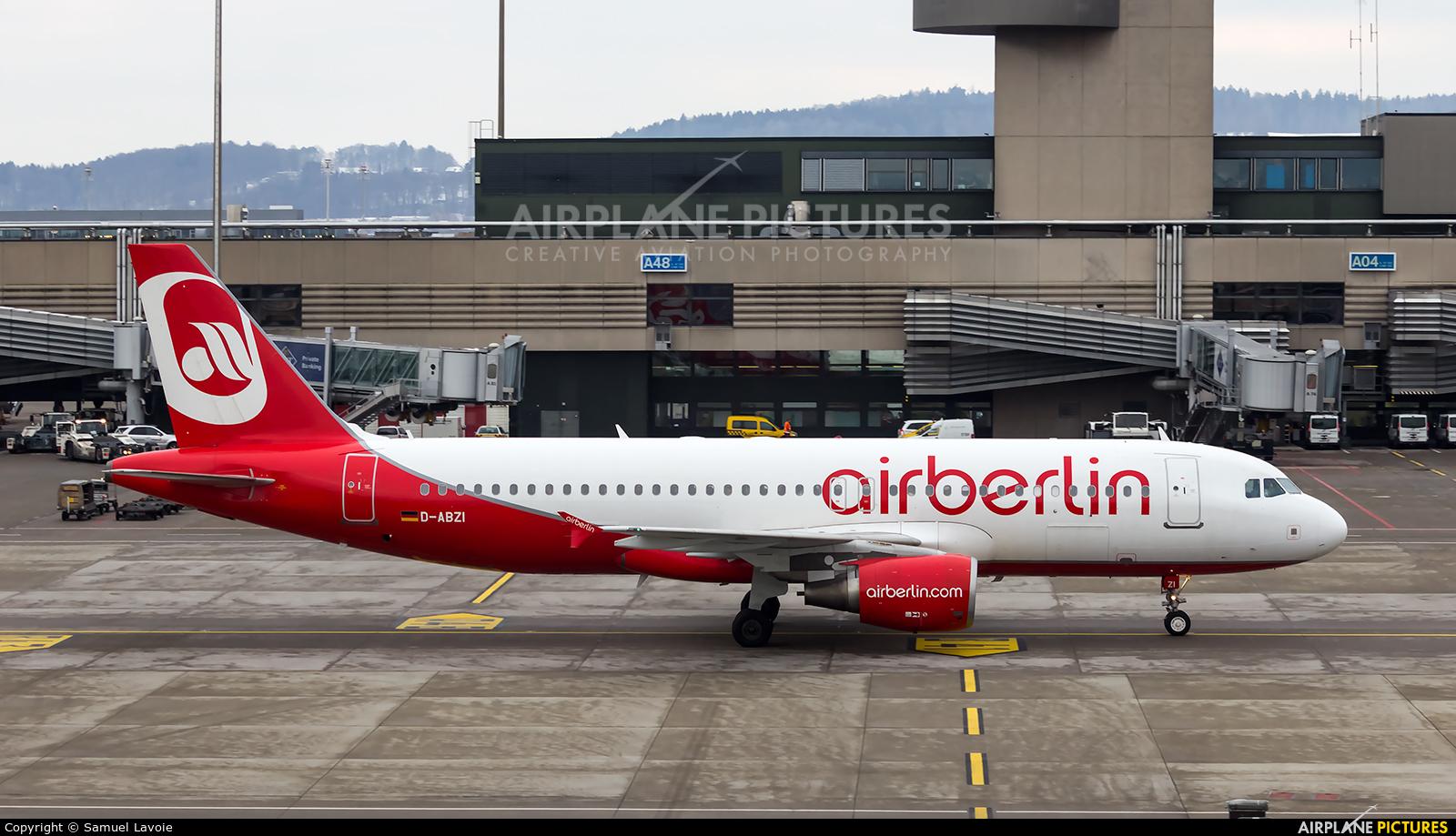 Air Berlin D-ABZI aircraft at Zurich