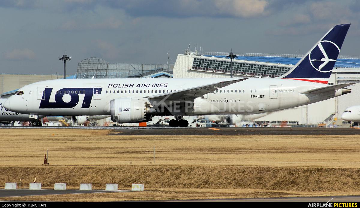 LOT - Polish Airlines SP-LRE aircraft at Tokyo - Narita Intl