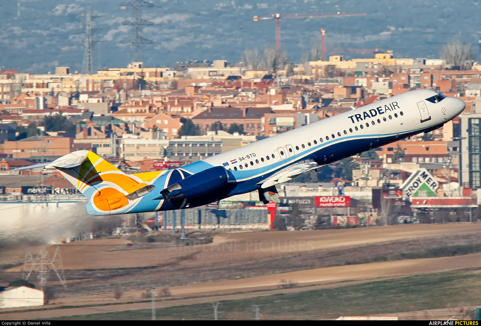 Trade Air 9A-BTD aircraft at Madrid - Barajas