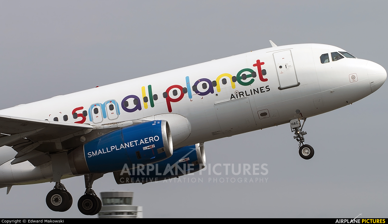 Small Planet Airlines SP-HAC aircraft at Poznań - Ławica