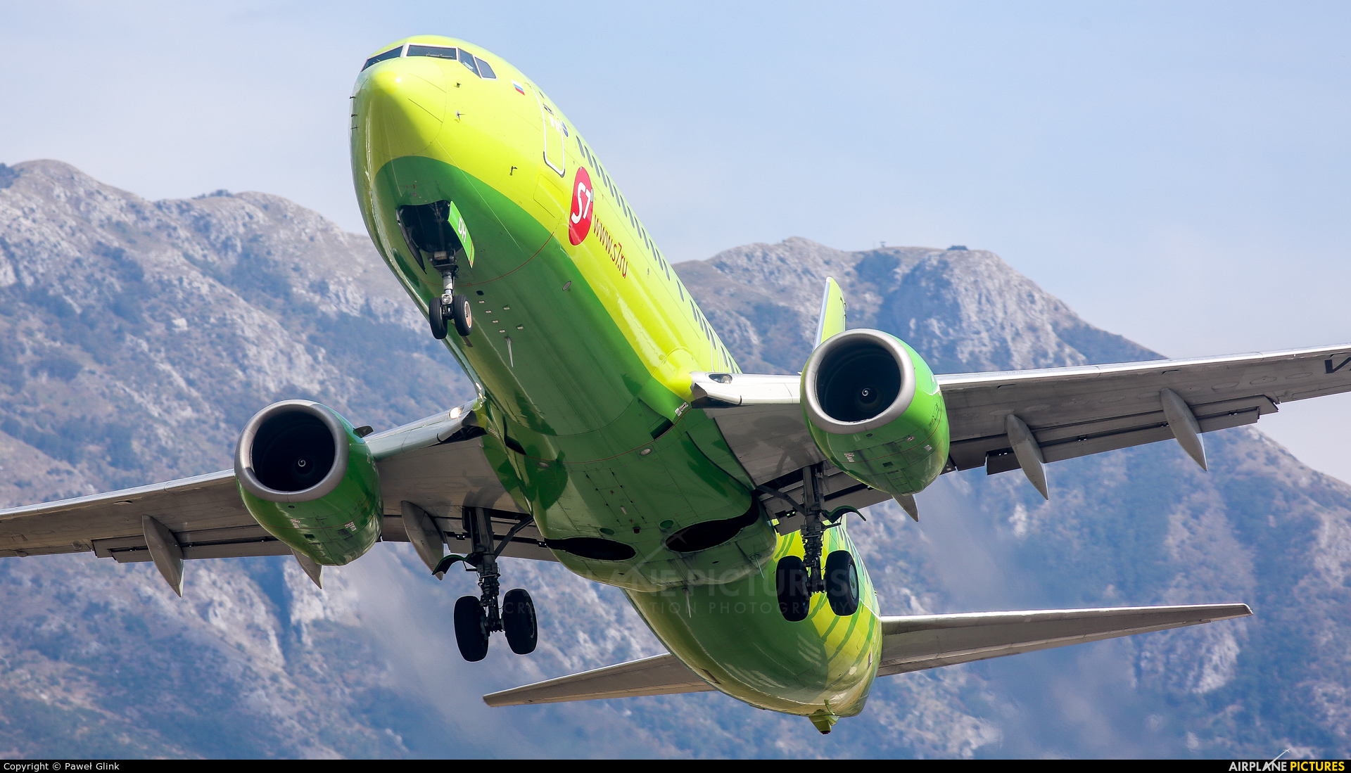 S7 Airlines VP-BDH aircraft at Tivat