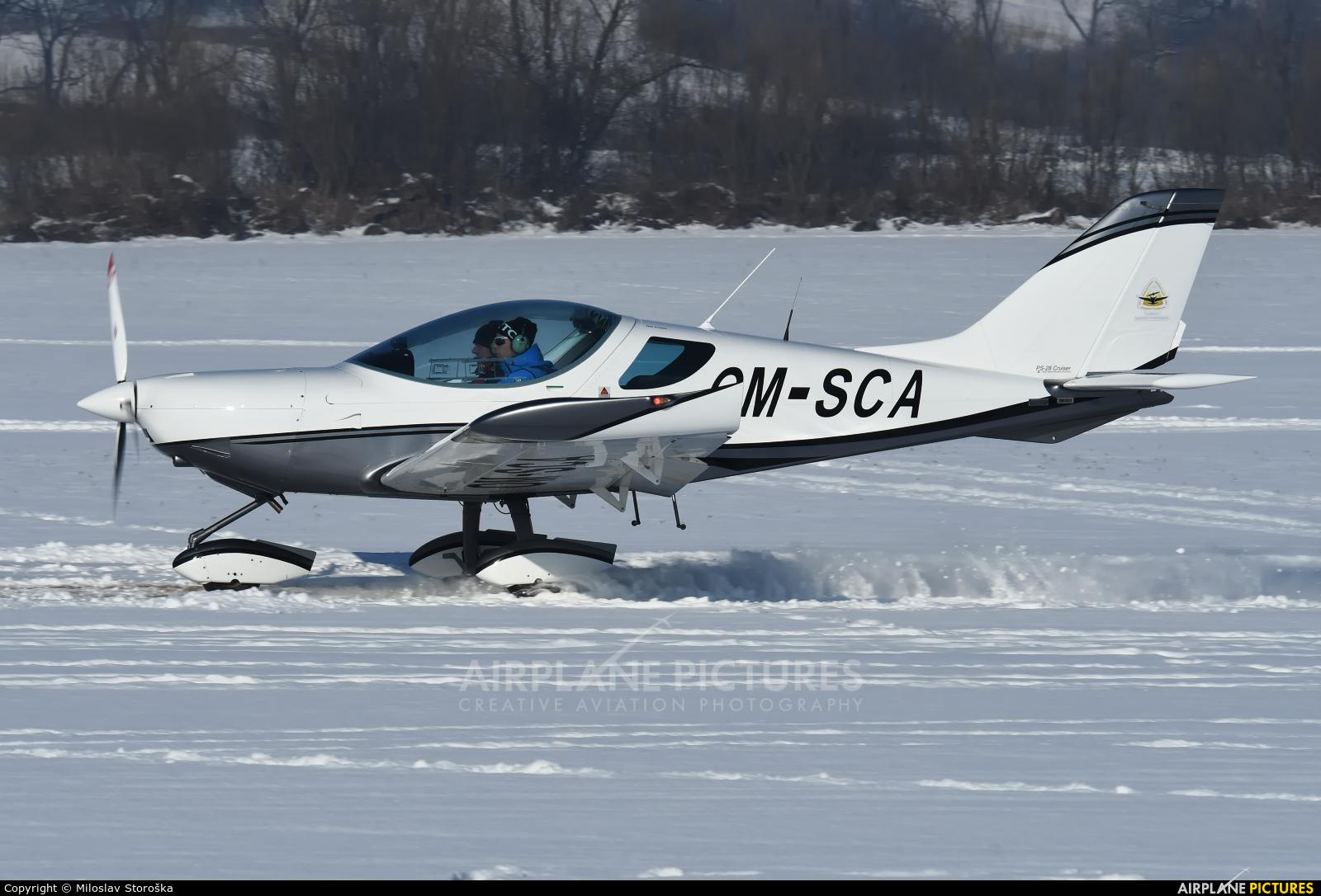 SkyService Flying School OM-SCA aircraft at Očová
