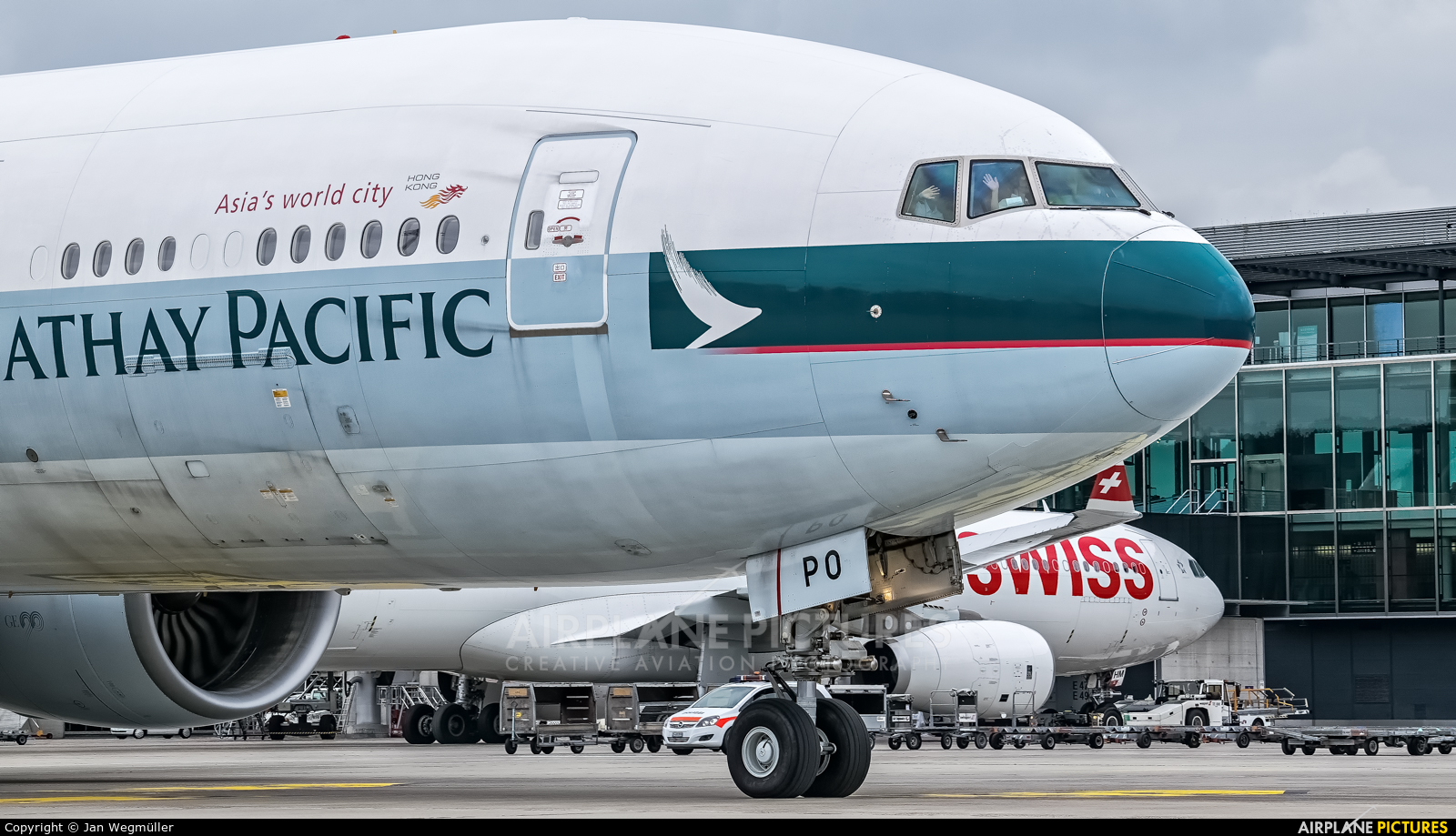 Cathay Pacific B-KPO aircraft at Zurich