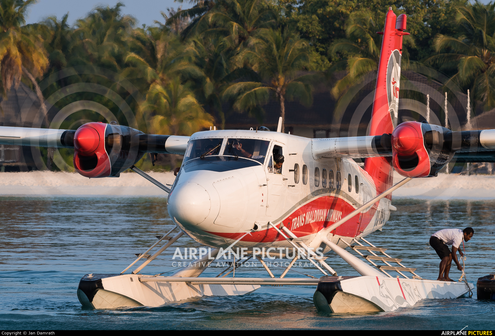 Trans Maldivian Airways - TMA 8Q-MBA aircraft at Off Airport - Maldives