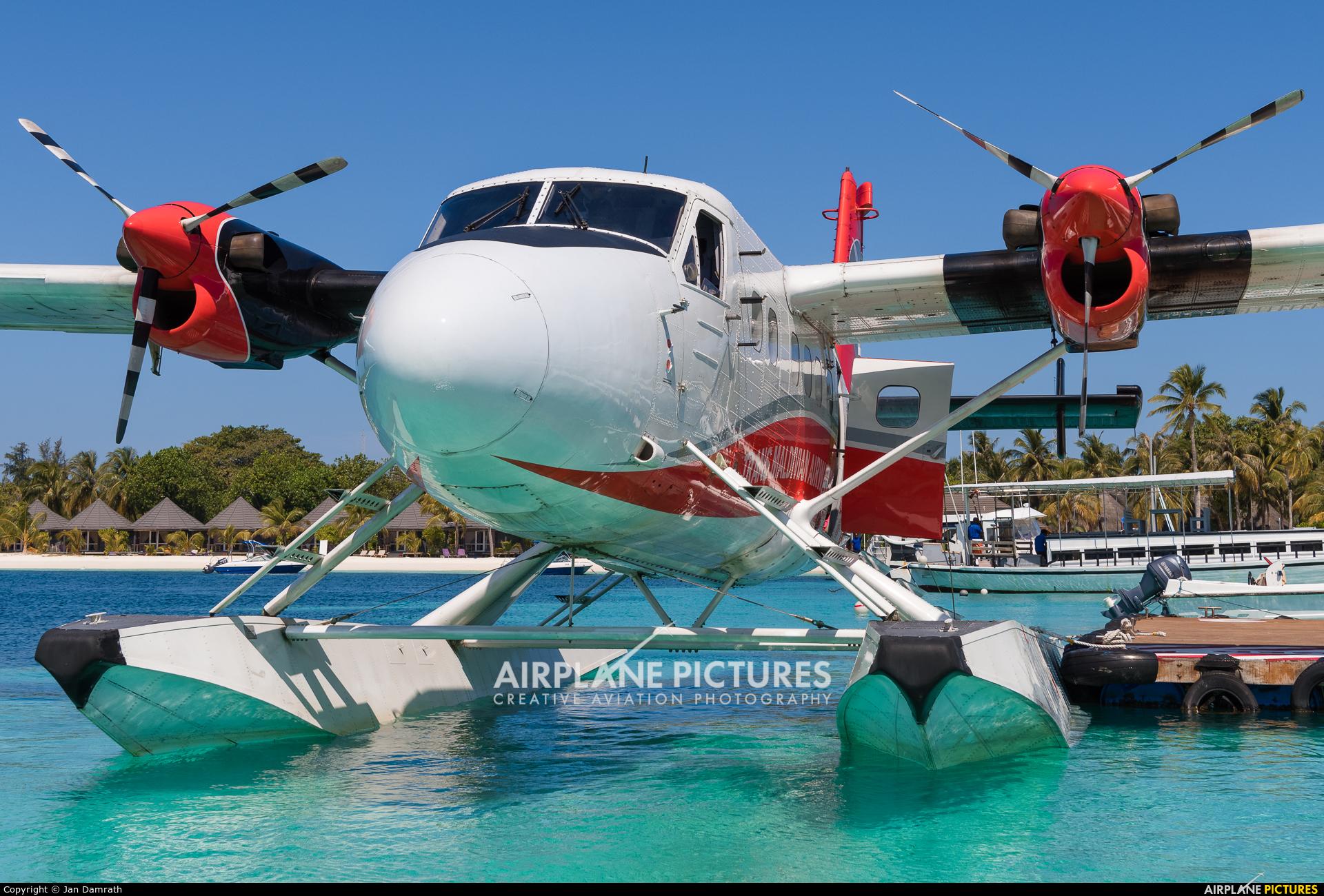 Trans Maldivian Airways - TMA 8Q-MAW aircraft at Off Airport - Maldives