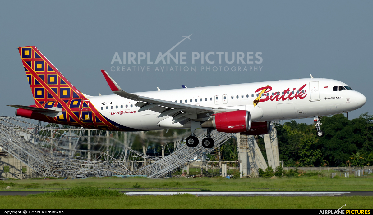 Batik Air PK-LAI aircraft at Sultan Hasanuddin Int'l Airport Makassar