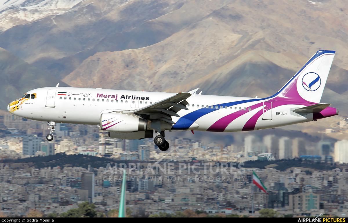 Meraj Airlines EP-AJI aircraft at Tehran - Mehrabad Intl