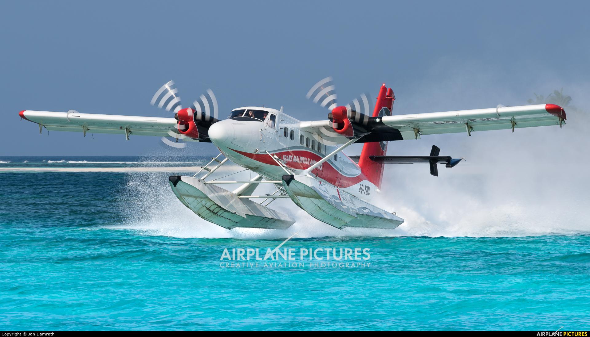 Trans Maldivian Airways - TMA 8Q-TML aircraft at Off Airport - Maldives