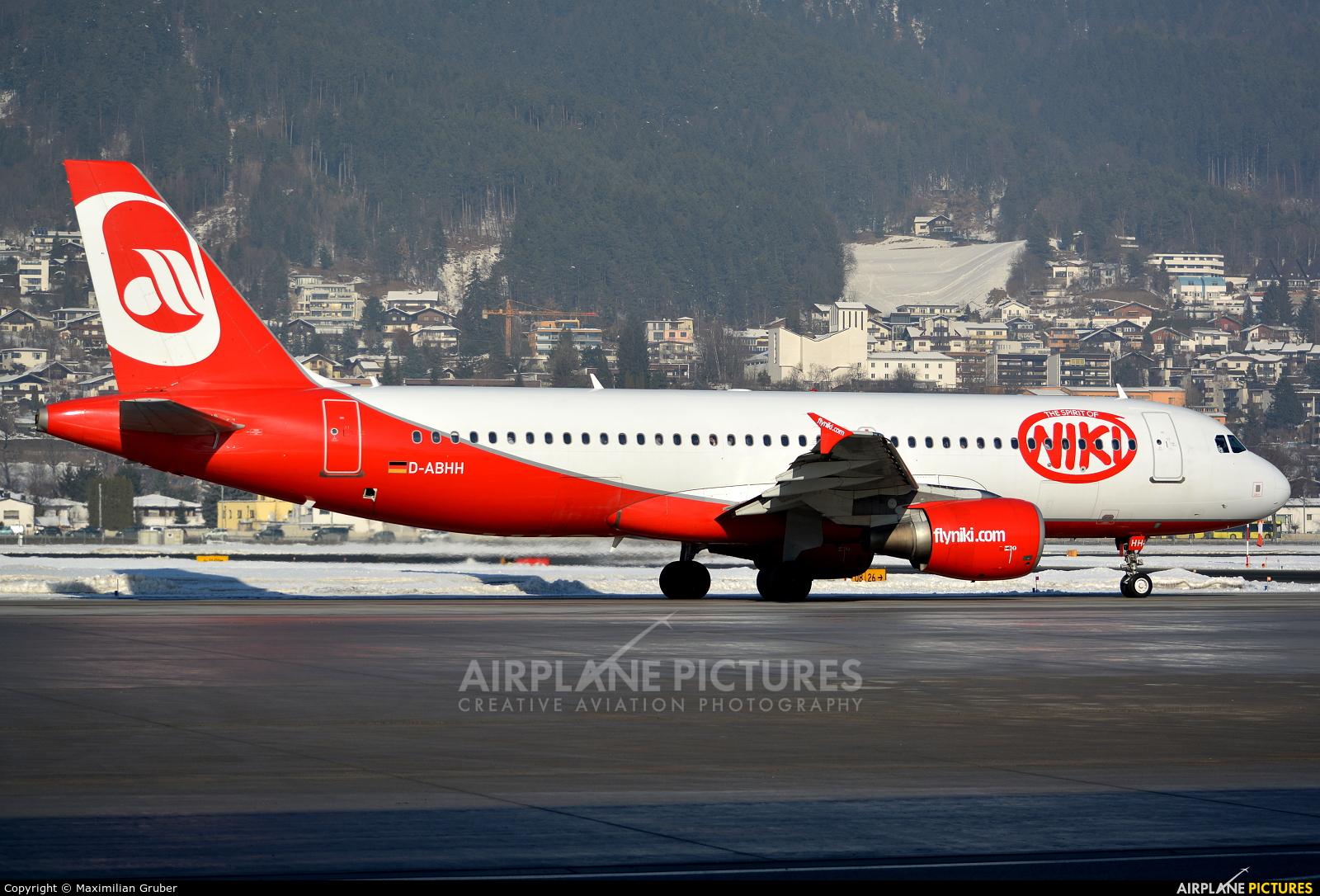 Air Berlin D-ABHH aircraft at Innsbruck
