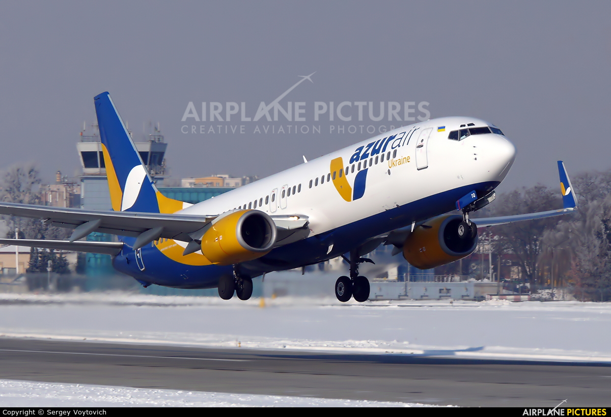 Azur Air Ukraine UR-UTQ aircraft at Sknilov
