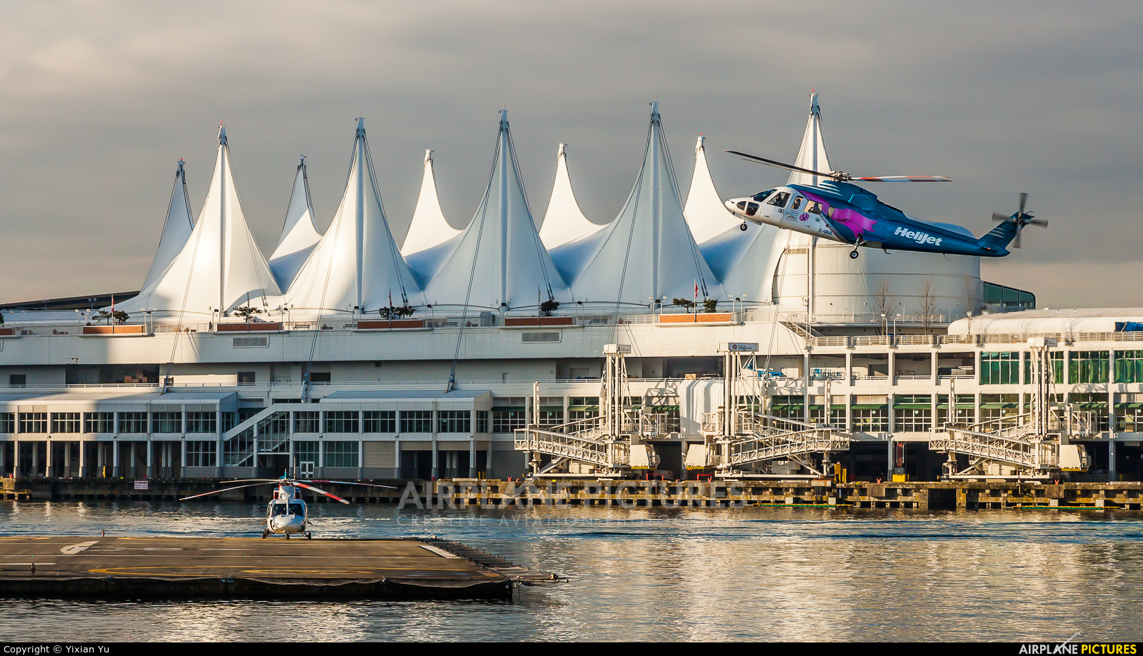 Helijet C-GHJL aircraft at Vancouver - Public Heliport