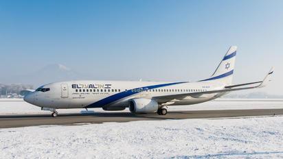 4X-EKF - El Al Israel Airlines Boeing 737-800