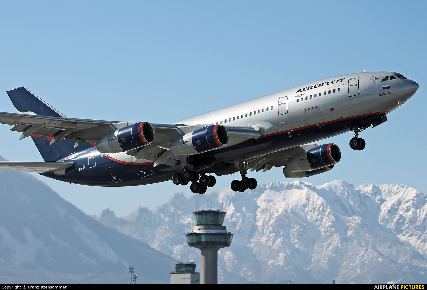 Aeroflot RA-96015 aircraft at Salzburg