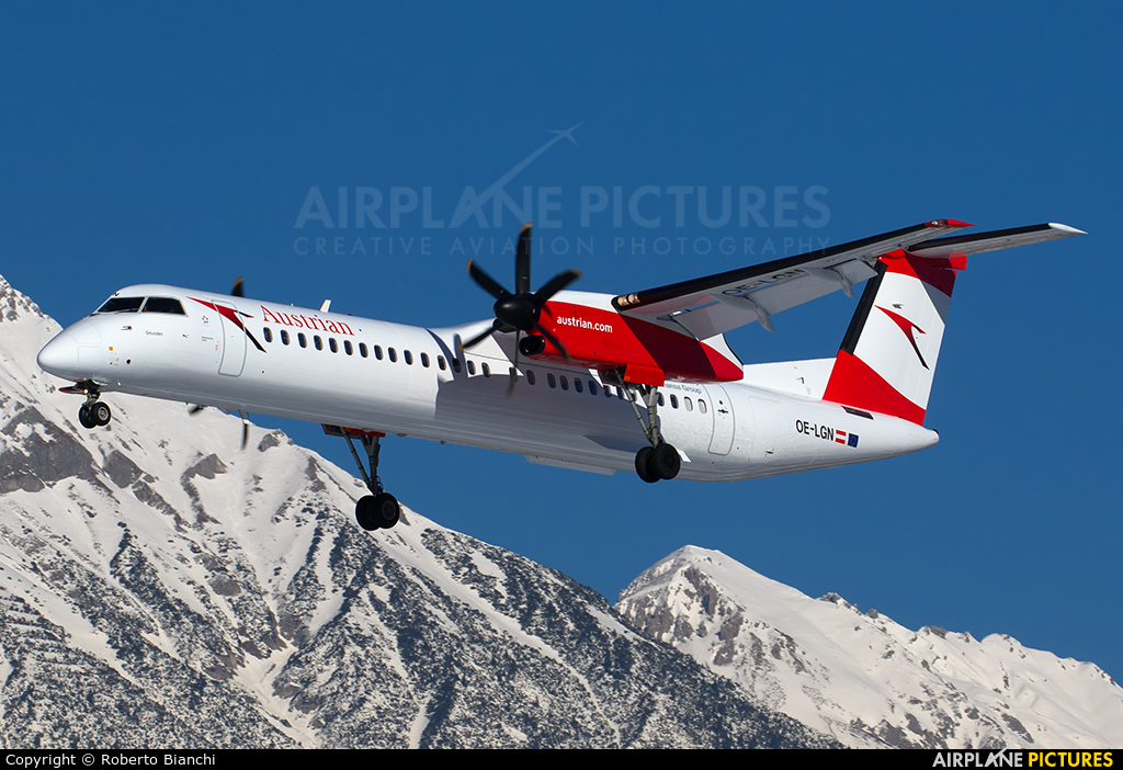 Austrian Airlines/Arrows/Tyrolean OE-LGN aircraft at Innsbruck