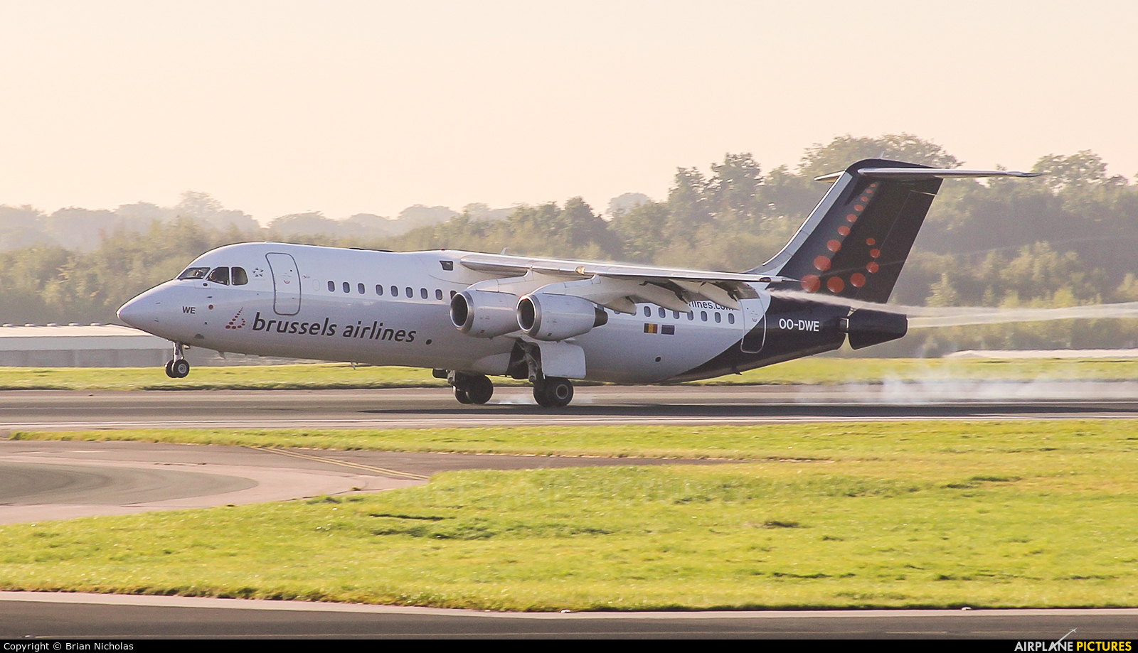 Brussels Airlines OO-DWE aircraft at Manchester