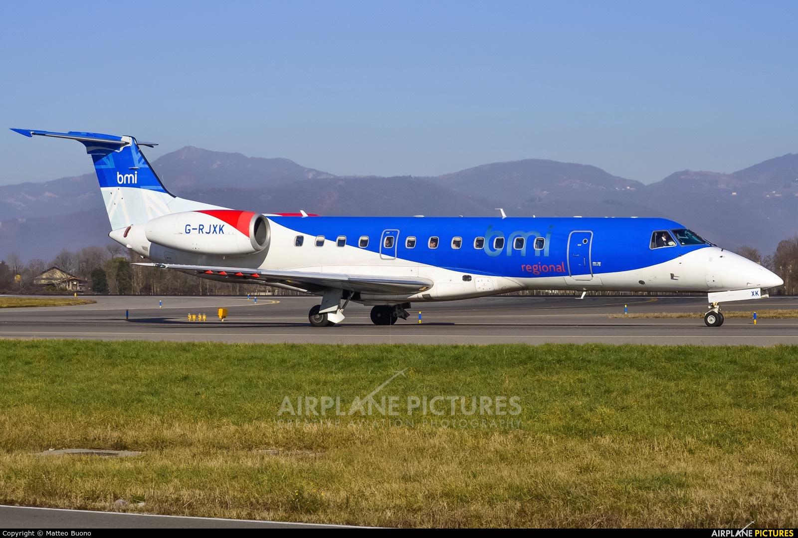 BMI Regional G-RJXK aircraft at Bergamo - Orio al Serio