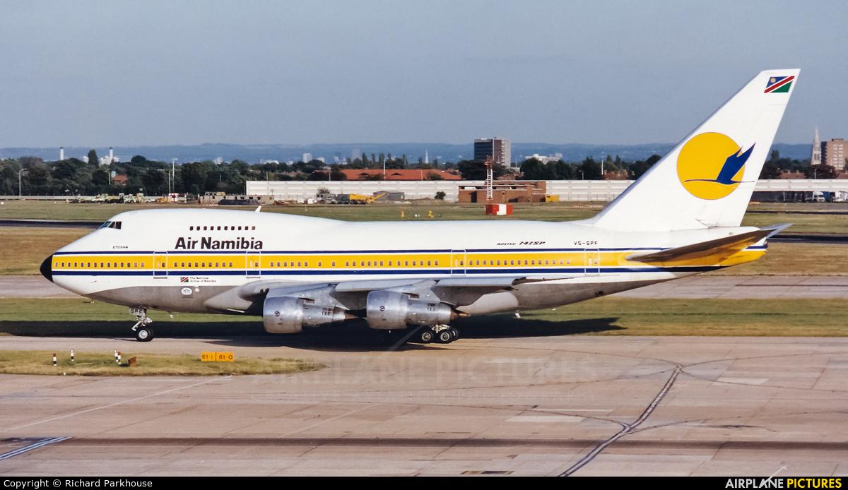Air Namibia V5-SPF aircraft at London - Heathrow
