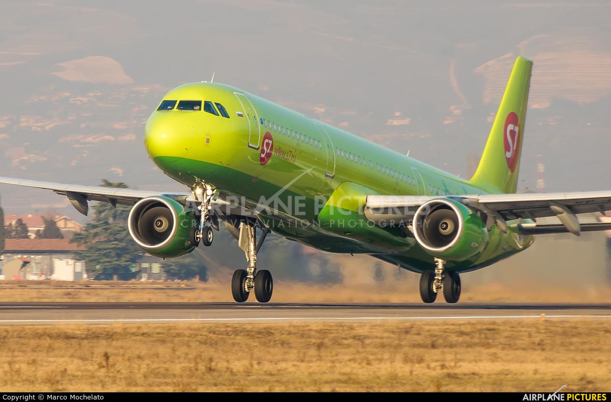S7 Airlines VP-BPO aircraft at Verona - Villafranca