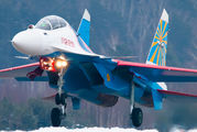 "32 - Russia - Air Force ""Russian Knights"" Sukhoi Su-30SM aircraft"