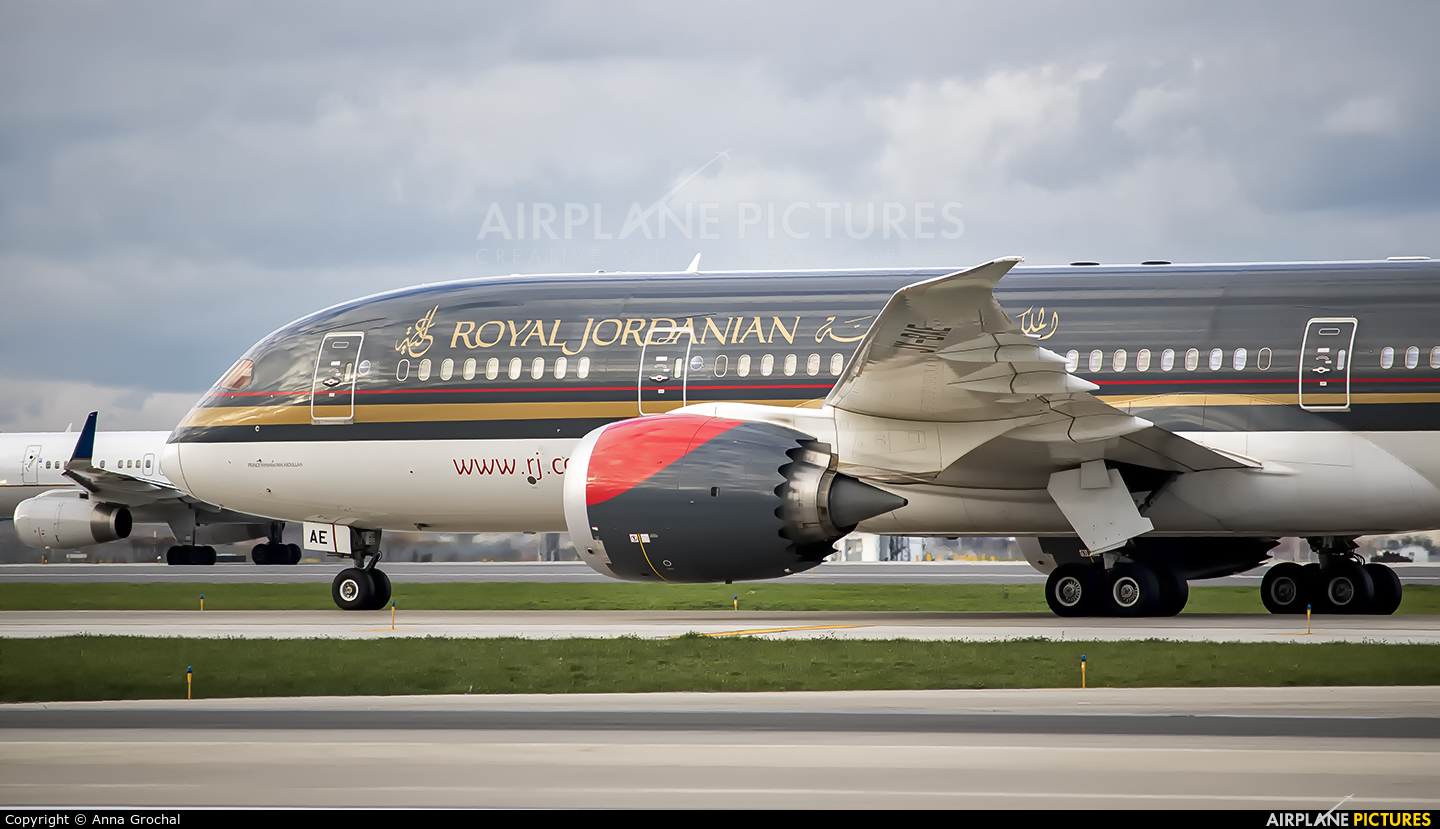 Royal Jordanian JY-BAE aircraft at Chicago - O Hare Intl