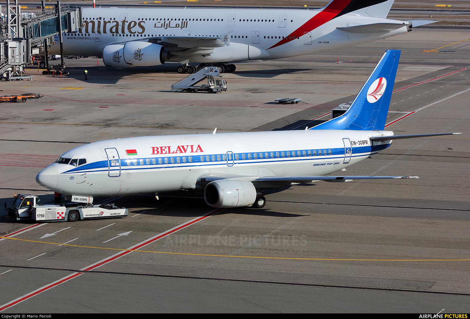 Belavia EW-308PA aircraft at Milan - Malpensa