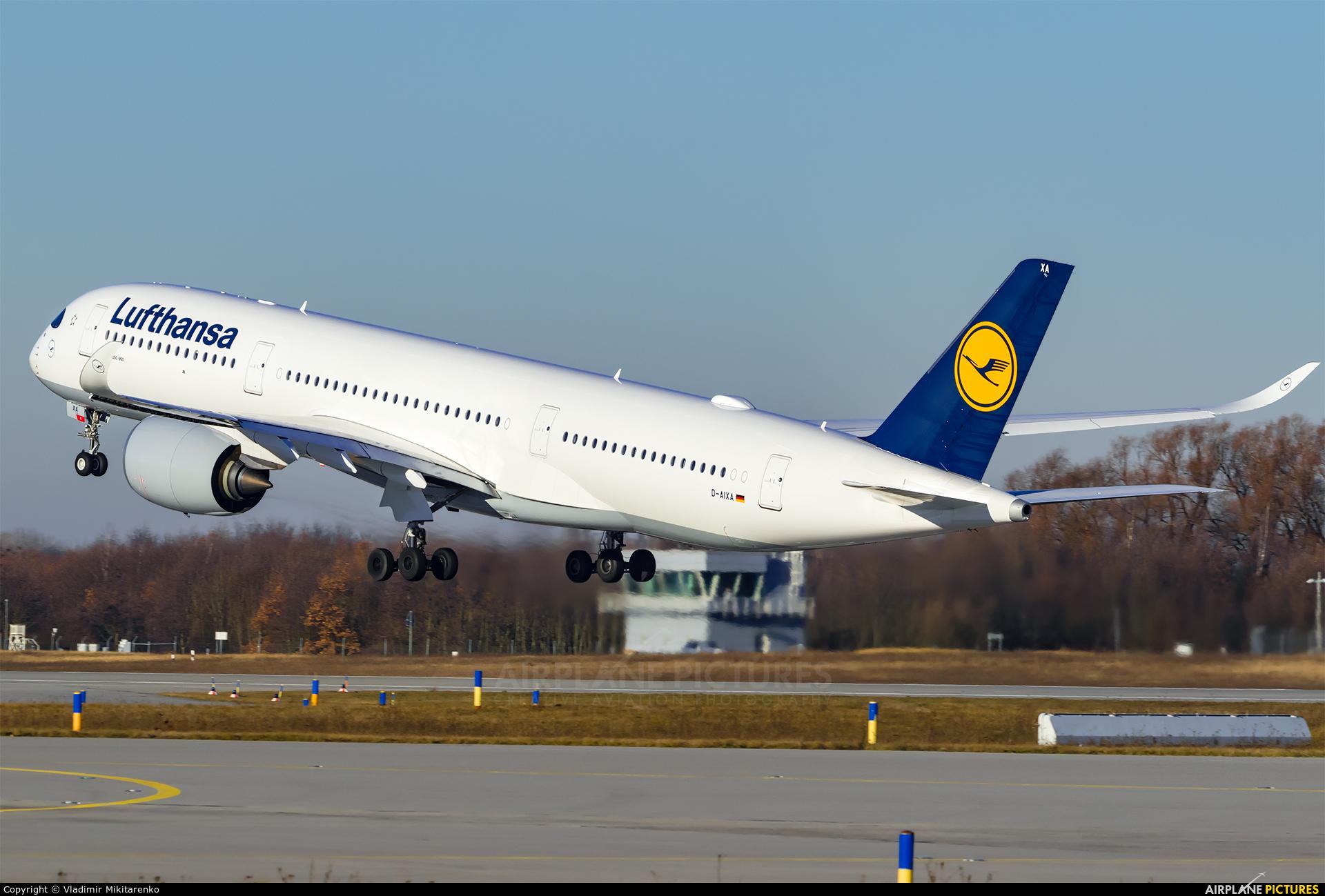 Lufthansa D-AIXA aircraft at Leipzig - Halle