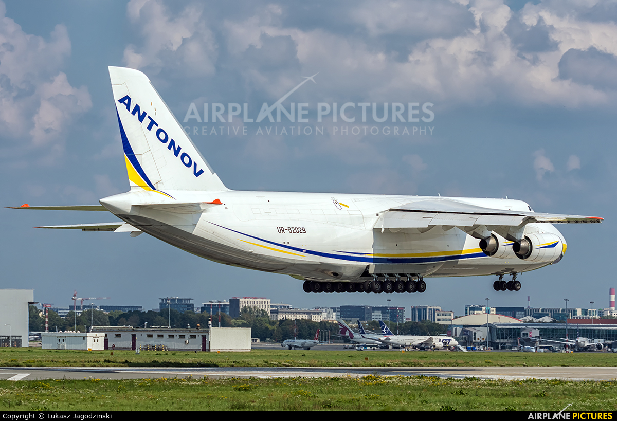 Antonov Airlines /  Design Bureau UR-82029 aircraft at Warsaw - Frederic Chopin
