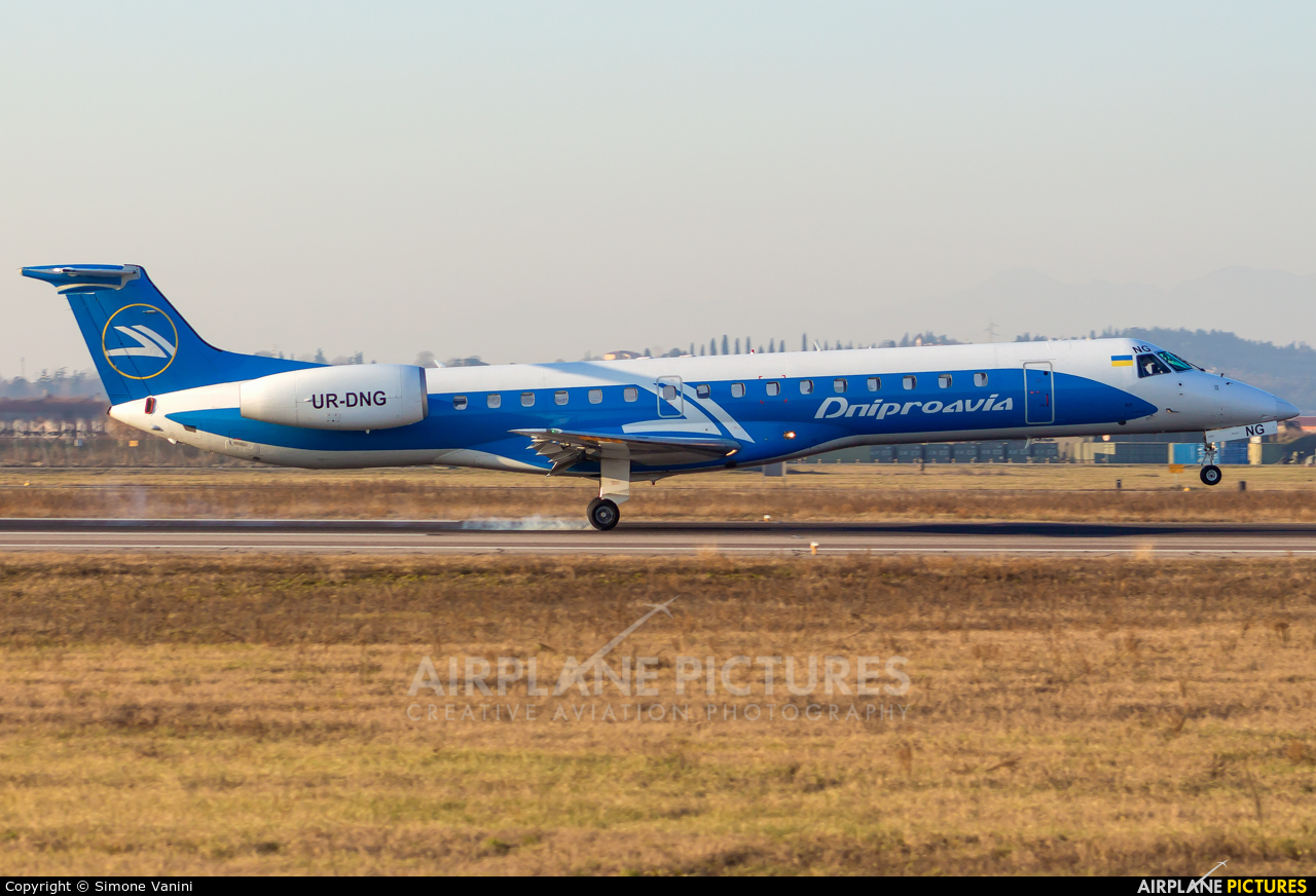 Dniproavia UR-DNG aircraft at Verona - Villafranca