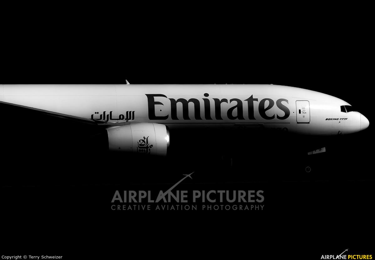 Emirates Sky Cargo A6-EFG aircraft at Frankfurt