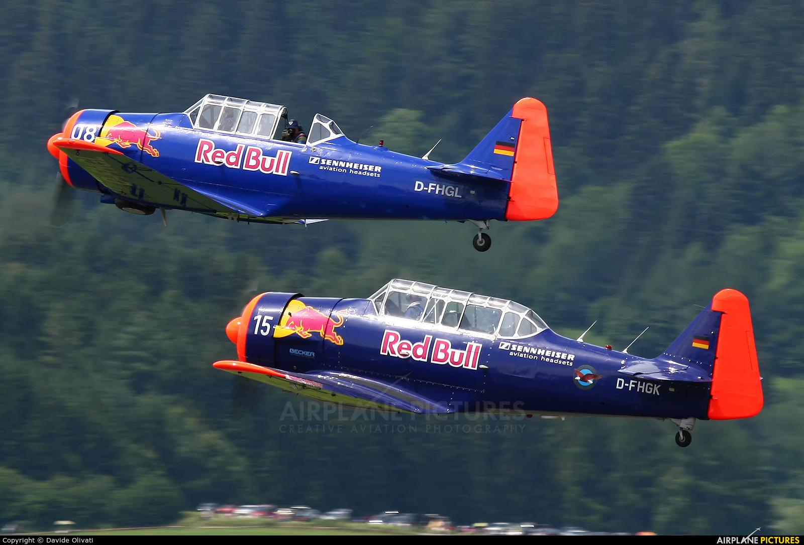 The Flying Bulls D-FHGL aircraft at Zeltweg