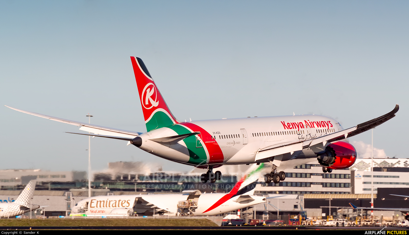 Kenya Airways 5Y-KZA aircraft at Amsterdam - Schiphol