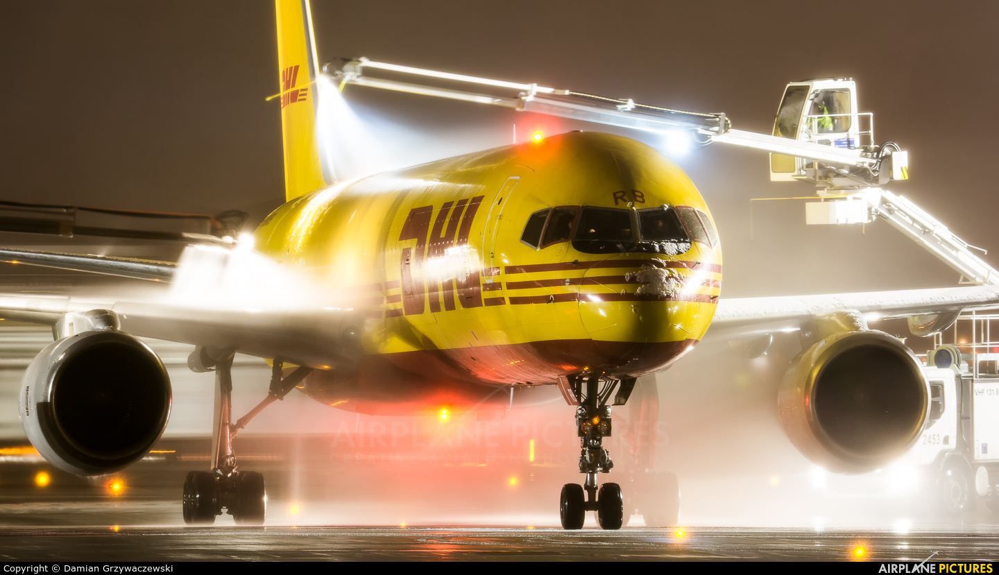 DHL Cargo G-BMRB aircraft at Warsaw - Frederic Chopin
