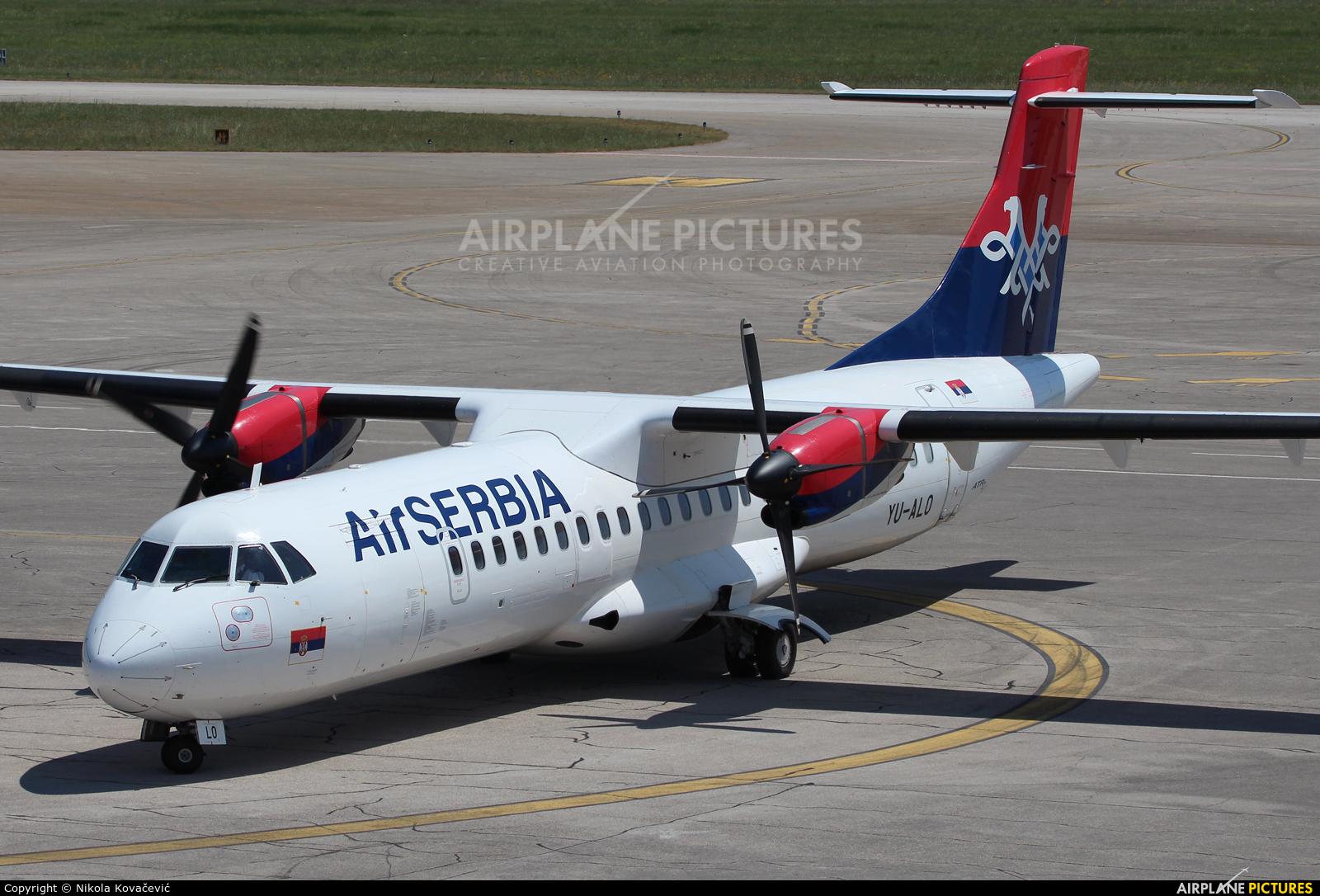 Air Serbia YU-ALO aircraft at Pula